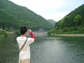 ダンディー、日高川を撮る!